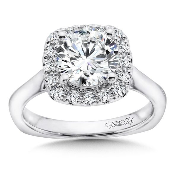 Cushion Halo Engagement Ring J. Thomas Jewelers Rochester Hills, MI