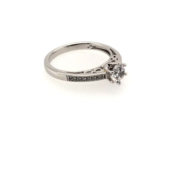 Cathedral Pave' Diamond Ring Image 2 J. Thomas Jewelers Rochester Hills, MI