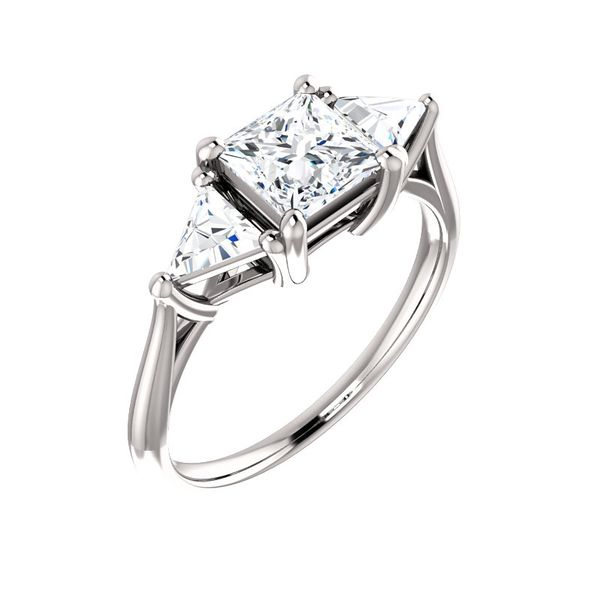 Square Diamond Engagement Ring J. Thomas Jewelers Rochester Hills, MI