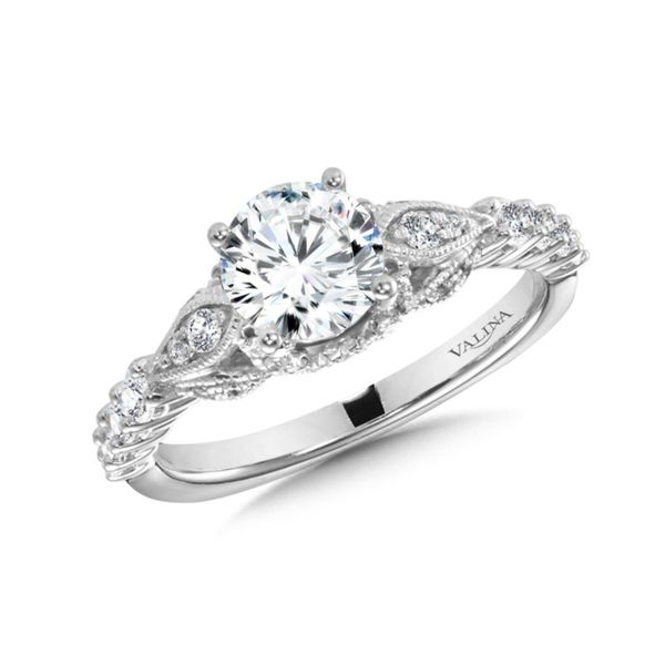 Valina Vintage Inspired Engagement Ring. J. Thomas Jewelers Rochester Hills, MI
