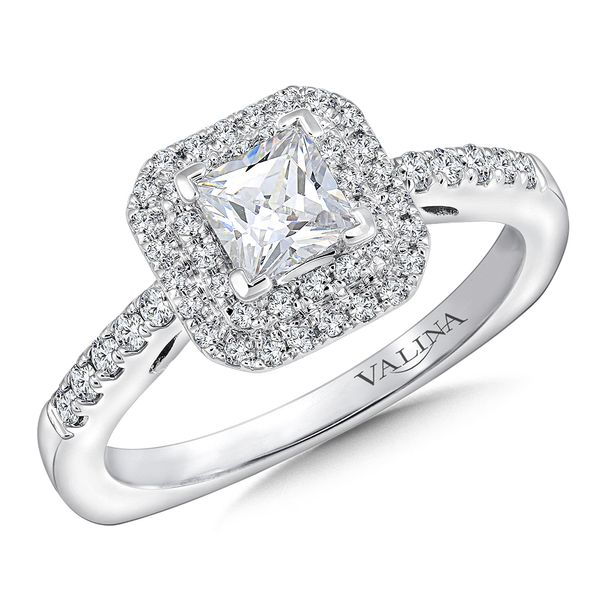 Valina Pave' Double Halo Diamond Ring J. Thomas Jewelers Rochester Hills, MI