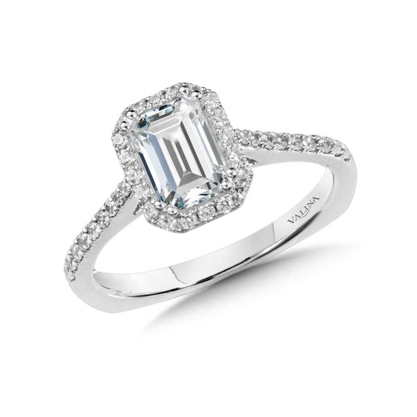 Halo Diamond Engagement Ring J. Thomas Jewelers Rochester Hills, MI