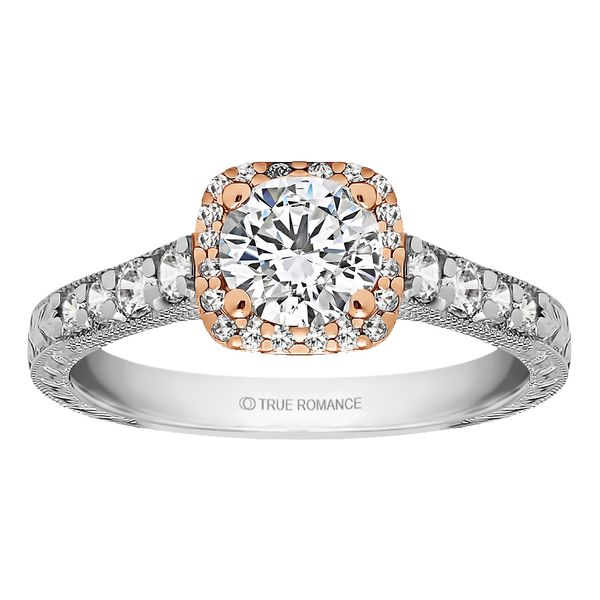 Engraved Diamond Engagement Ring J. Thomas Jewelers Rochester Hills, MI