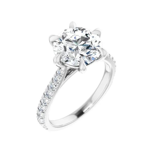 French Set Cathedral Diamond Ring J. Thomas Jewelers Rochester Hills, MI