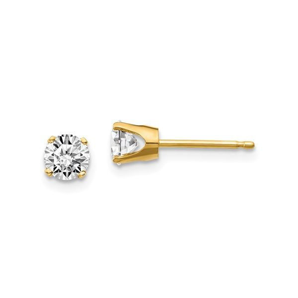 0.30Tw Yellow Gold Diamond Earrings J. Thomas Jewelers Rochester Hills, MI