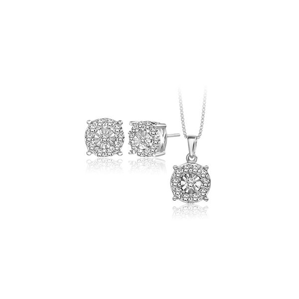 Diamond Earrings And Pendant J. Thomas Jewelers Rochester Hills, MI