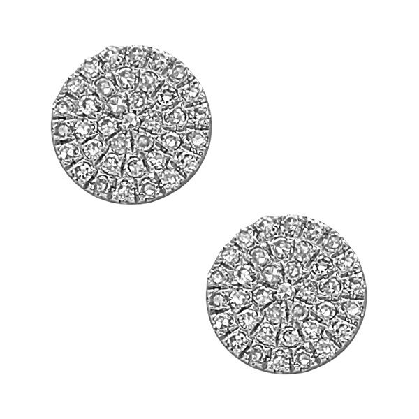 Sparkling Diamond Cluster Earrings J. Thomas Jewelers Rochester Hills, MI