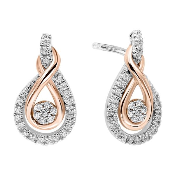 Diamond Infinity Drop Earrings J. Thomas Jewelers Rochester Hills, MI