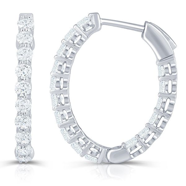 1.42 Carat Inside Out Hoops J. Thomas Jewelers Rochester Hills, MI