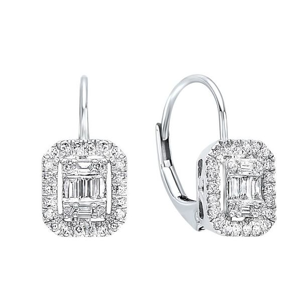 Diamond Leverback Earrings J. Thomas Jewelers Rochester Hills, MI