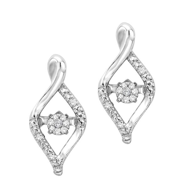Sterling Silver Diamond Drop Earrings J. Thomas Jewelers Rochester Hills, MI