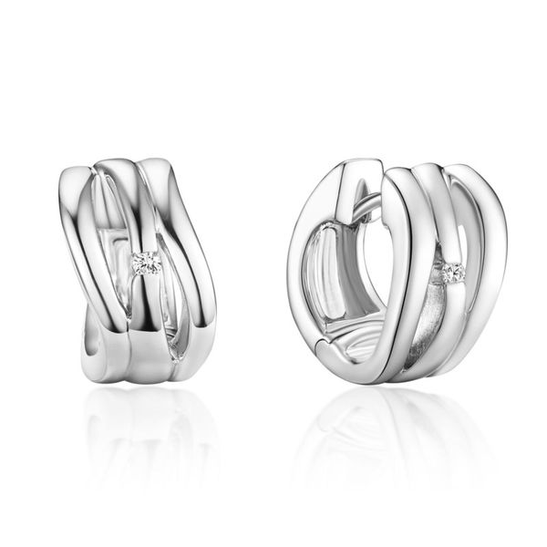 Sterling Silver Huggie Earrings J. Thomas Jewelers Rochester Hills, MI