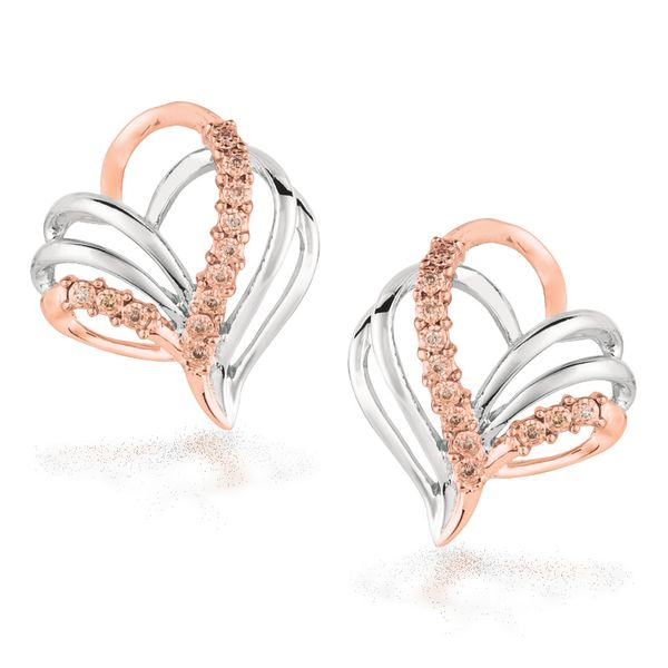 Heart Of Hope Cognac Diamond Earrings J. Thomas Jewelers Rochester Hills, MI