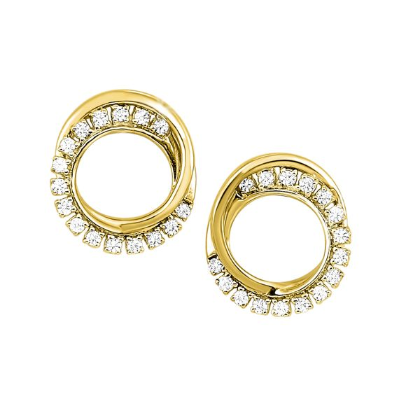0.16Tw Intertwined Diamond Circle Earrings J. Thomas Jewelers Rochester Hills, MI