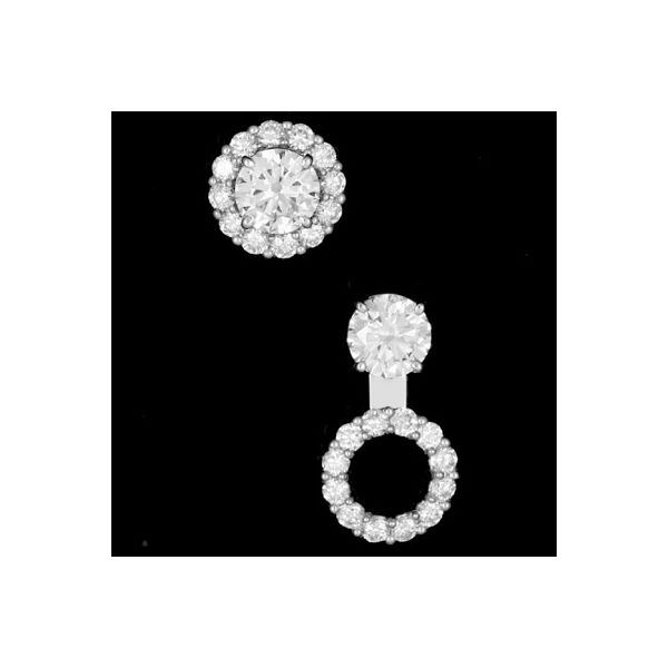 0.96Tw Convertible Diamond Earring Jackets J. Thomas Jewelers Rochester Hills, MI