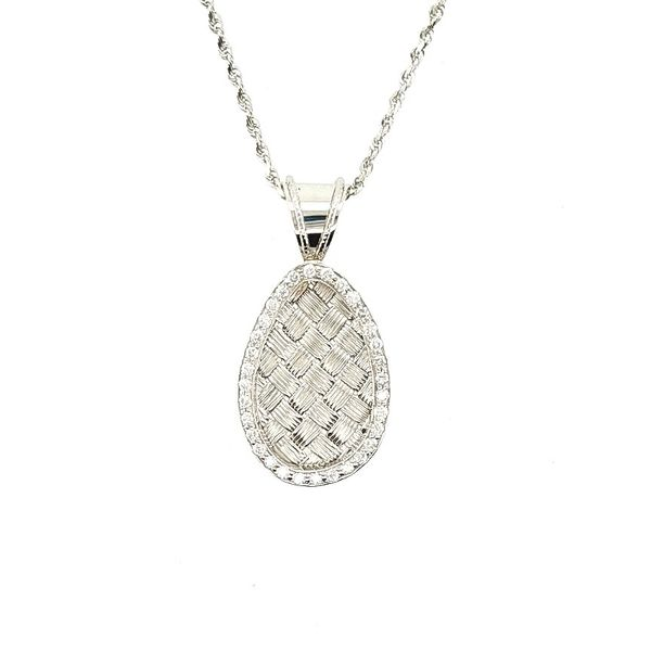 Woven White Gold Pendant J. Thomas Jewelers Rochester Hills, MI