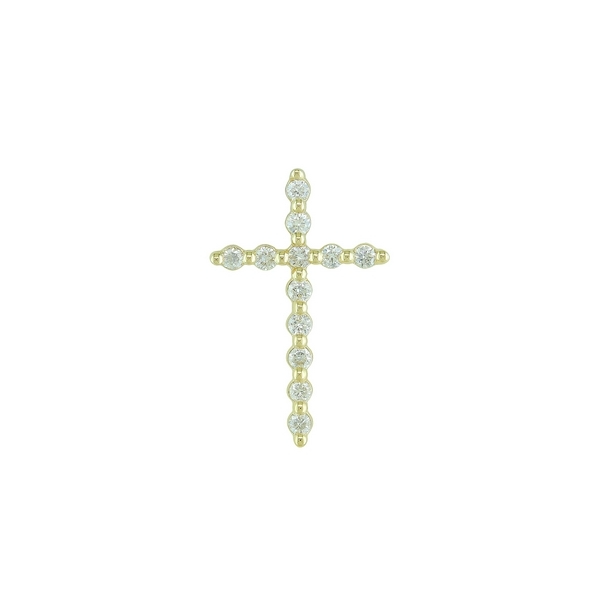 0.12Tw Yellow Gold Diamond Cross J. Thomas Jewelers Rochester Hills, MI