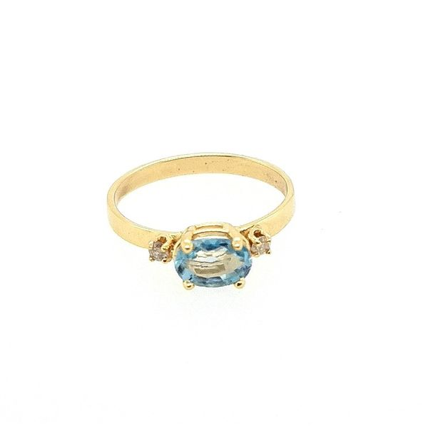 Blue Topaz Ring Image 2 J. Thomas Jewelers Rochester Hills, MI