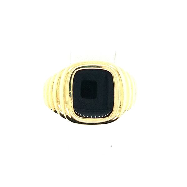 Yellow Gold Onyx Ring J. Thomas Jewelers Rochester Hills, MI