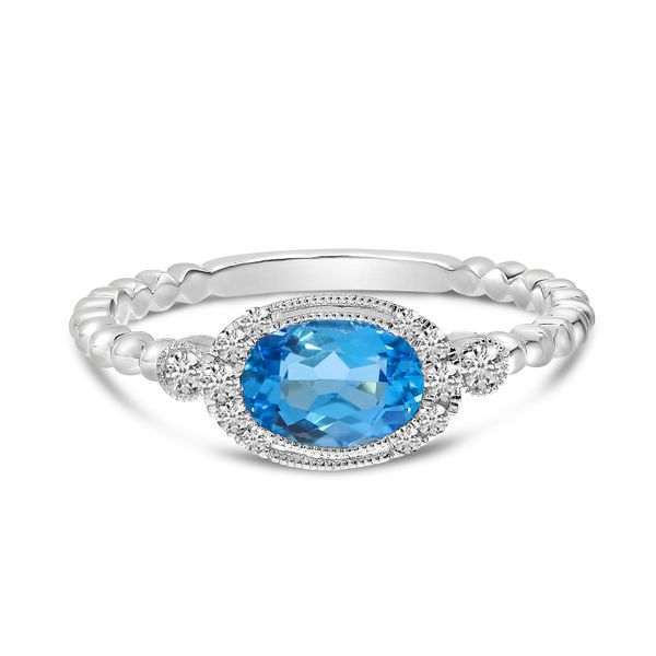 Oval Blue Topaz Ring J. Thomas Jewelers Rochester Hills, MI
