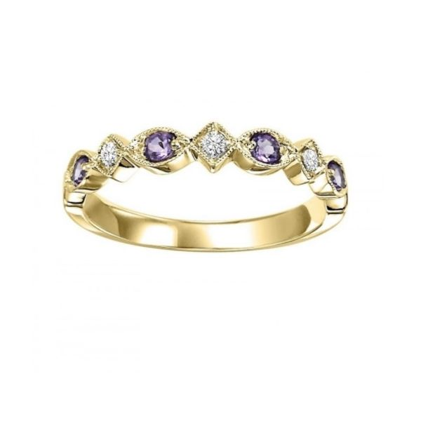 Amethyst And Diamond Mixable J. Thomas Jewelers Rochester Hills, MI