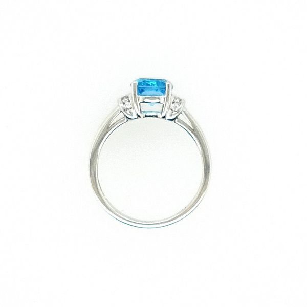 White Gold Blue Topaz RIng Image 2 J. Thomas Jewelers Rochester Hills, MI