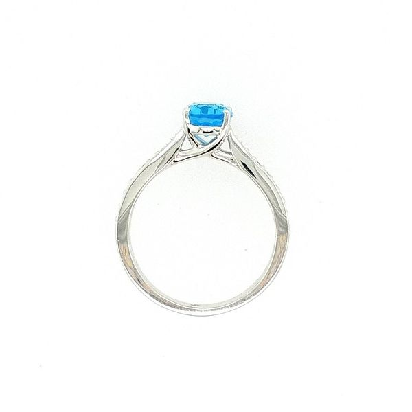 Oval Blue Topaz Ring Image 2 J. Thomas Jewelers Rochester Hills, MI