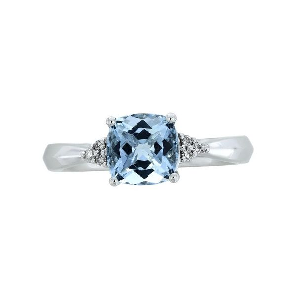 Cushion Aquamarine Ring J. Thomas Jewelers Rochester Hills, MI