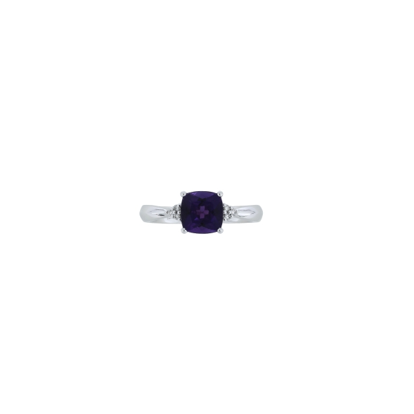 Cushion Amethyst and Diamond Ring J. Thomas Jewelers Rochester Hills, MI