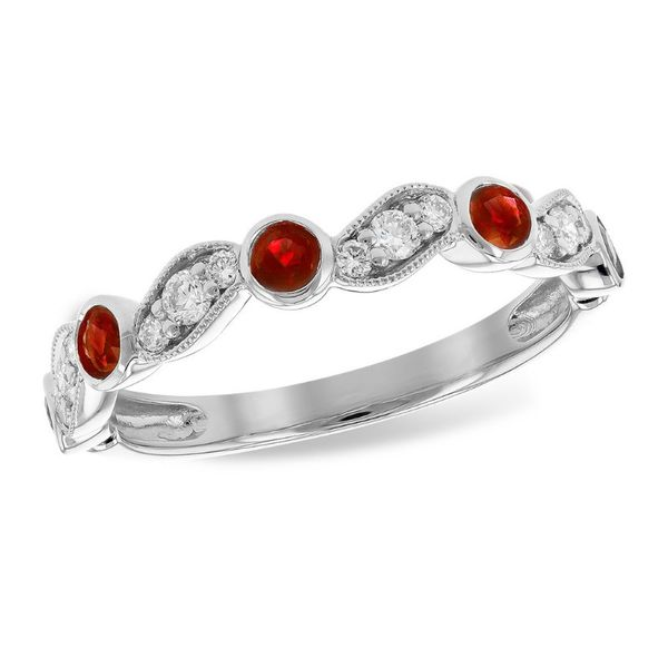 Ruby and Diamond Band Ring J. Thomas Jewelers Rochester Hills, MI