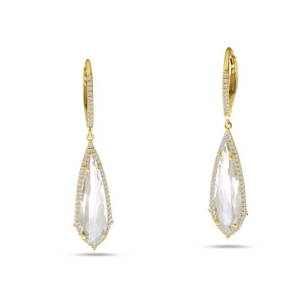 Bachelorette White Topaz Earrings J. Thomas Jewelers Rochester Hills, MI