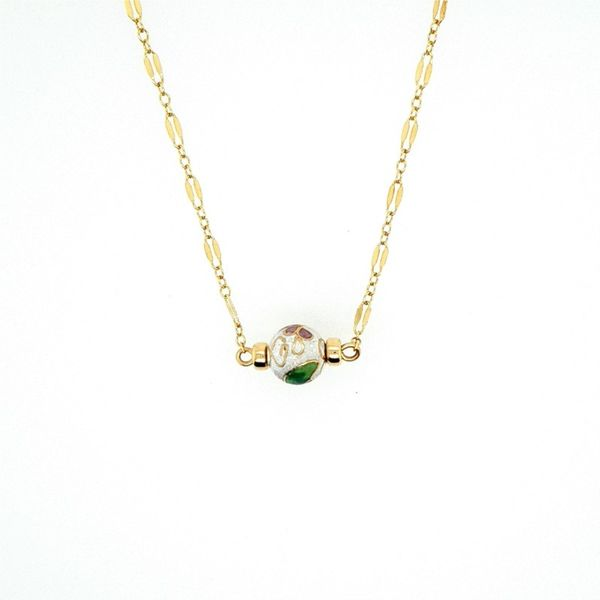White Cloisonne Necklace J. Thomas Jewelers Rochester Hills, MI