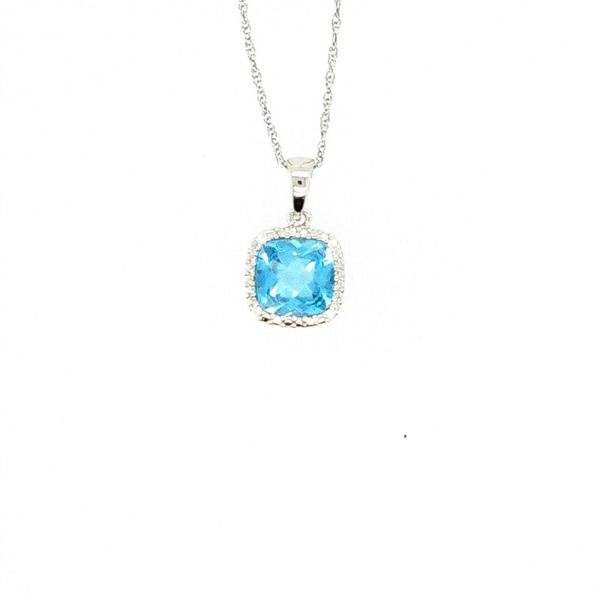 Blue Topaz and Diamond Pendant J. Thomas Jewelers Rochester Hills, MI
