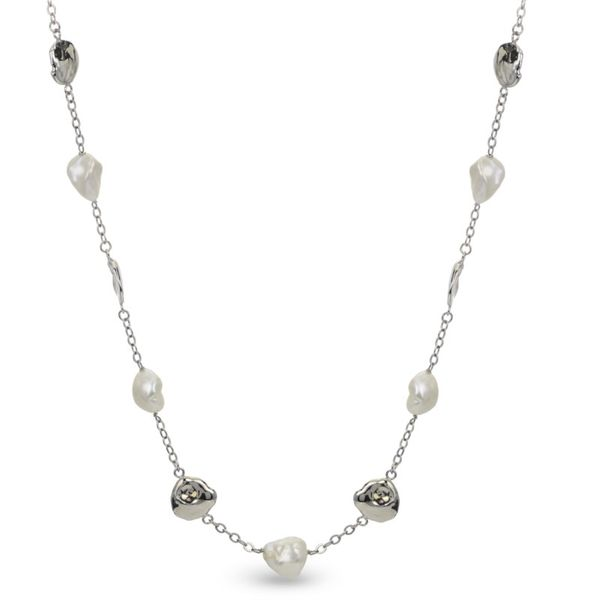 Keshi Charm And Pearl Necklace J. Thomas Jewelers Rochester Hills, MI