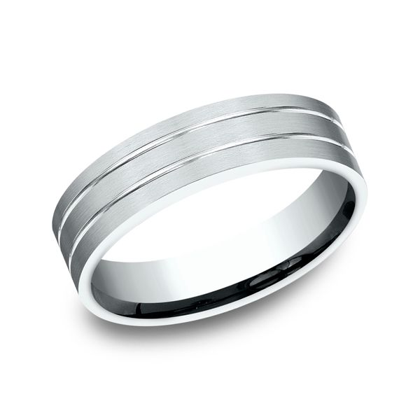 14 Karat White Gold Comfort Fit Wedding Band, 6 MM J. Thomas Jewelers Rochester Hills, MI