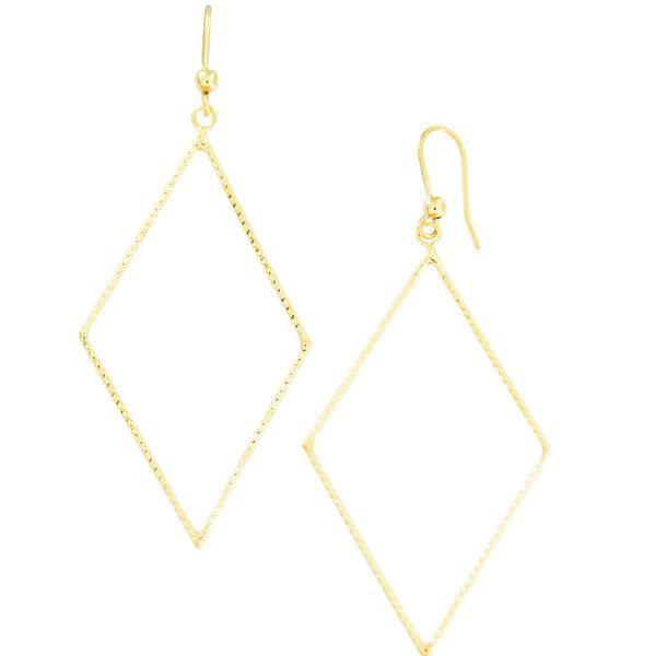 Yellow Gold Triangle Earrings J. Thomas Jewelers Rochester Hills, MI