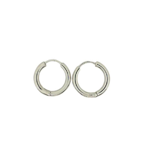 White Gold Hinged Hoops J. Thomas Jewelers Rochester Hills, MI