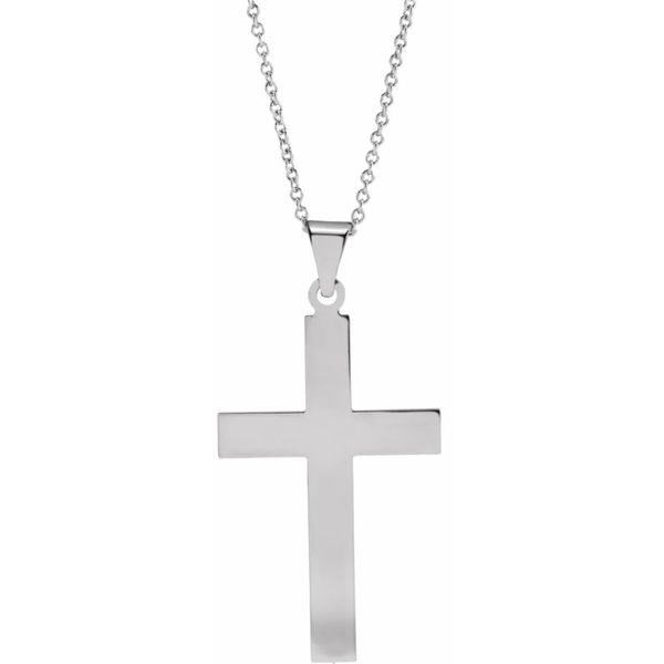 White Gold Cross J. Thomas Jewelers Rochester Hills, MI