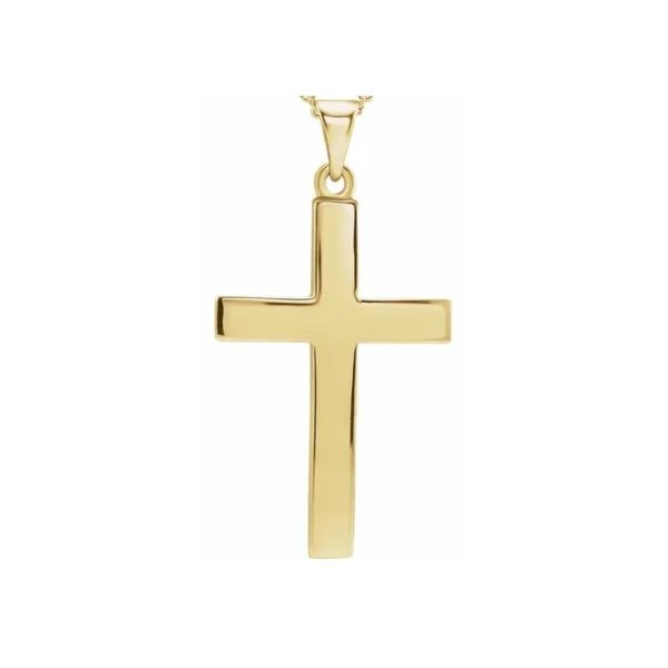 Domed Yellow Gold Cross J. Thomas Jewelers Rochester Hills, MI