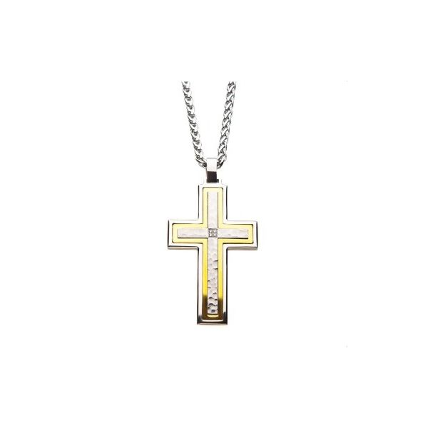 Hammered And Gold  Plated Cross J. Thomas Jewelers Rochester Hills, MI