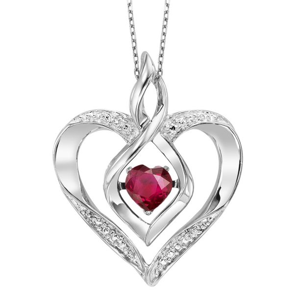 Ruby Heart Pendant J. Thomas Jewelers Rochester Hills, MI