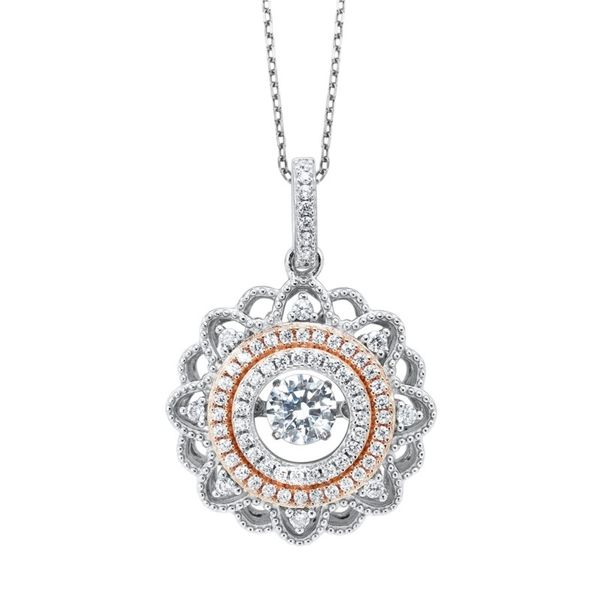 Sterling Silver And Rose Gold Plated Pendant J. Thomas Jewelers Rochester Hills, MI