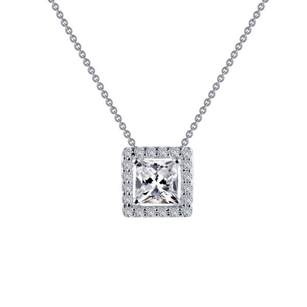 Timeless Elegance. This Halo Necklace Features Lafonn's Signature Lassaire Round Simulated Diamonds In Sterling Silver Bonded Wi J. Thomas Jewelers Rochester Hills, MI