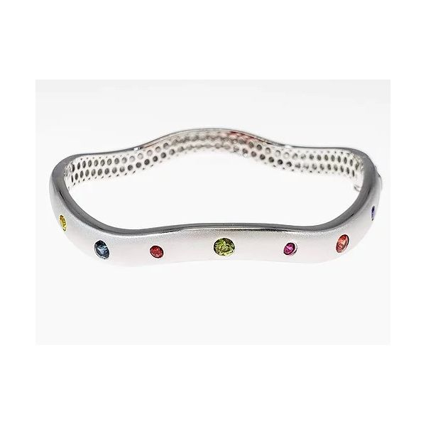 Sapphire Bangle Bracelet J. Thomas Jewelers Rochester Hills, MI