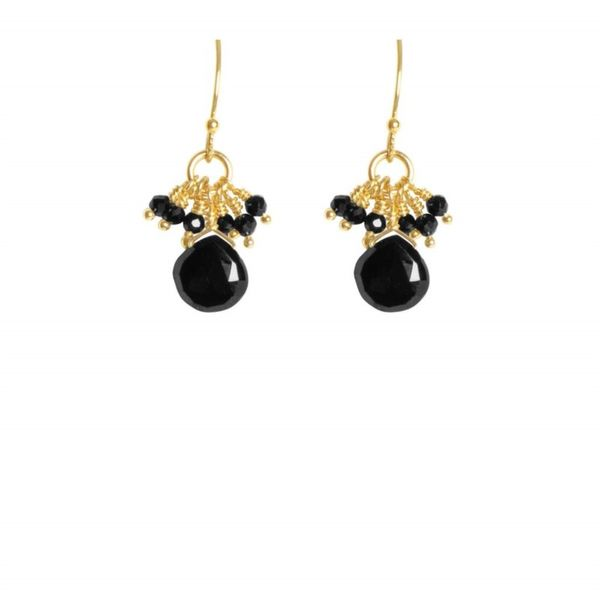 Black Spinel Earrings J. Thomas Jewelers Rochester Hills, MI