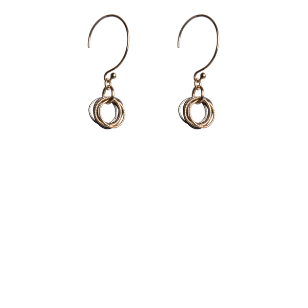 Textured Circle Earrings J. Thomas Jewelers Rochester Hills, MI