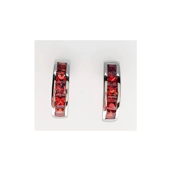 Red Sapphire Earrings J. Thomas Jewelers Rochester Hills, MI