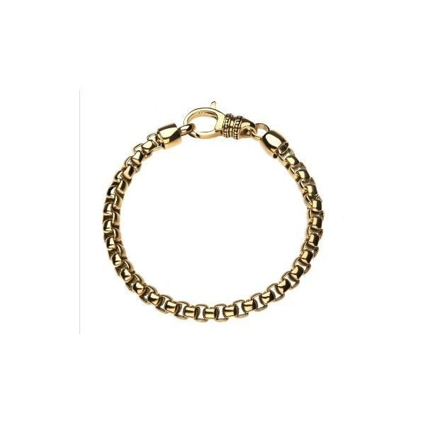 18K Gold Plated Bold Box Chain Bracelet 8