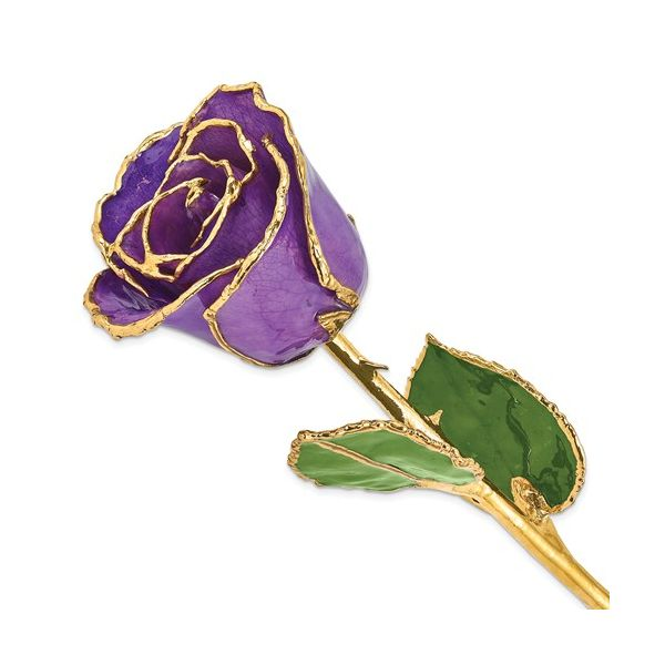 24K Gold And Lacquer Dipped Lilac Rose J. Thomas Jewelers Rochester Hills, MI