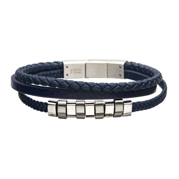 Stainless Steel and Leather Bracelet J. Thomas Jewelers Rochester Hills, MI